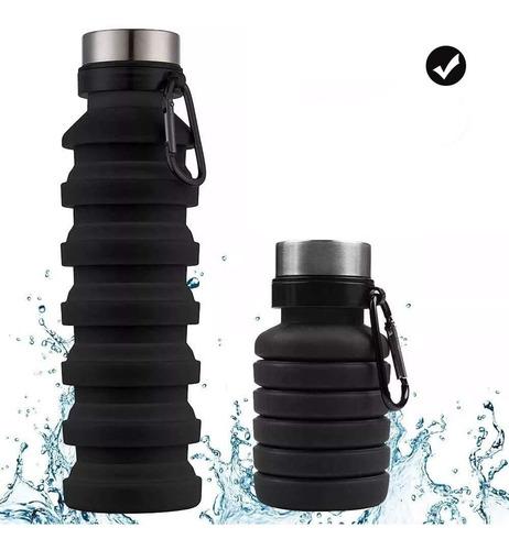 Silicón Botellatermo Plegable Vaso Tapa De Acero 550 Ml