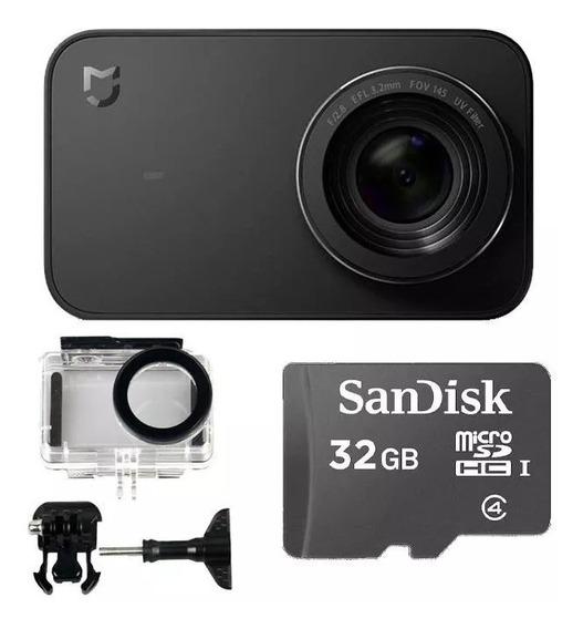 Camera Ação Mi Action Xiaomi Mijia 4k Com +case +cartão 32gb