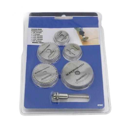 Kit Mini Sierras Circular Dremel Motor Tool Taladro Hss 6pcs