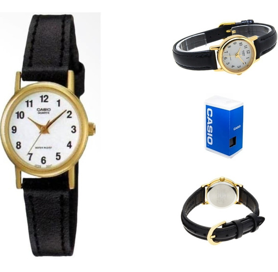 Reloj Casio Ltp-1095q-7b Mujer Correa Piel Negro
