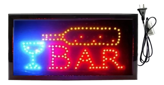 Cartel Luminoso Led Bar 48 X 25 Cm Oferta Especial