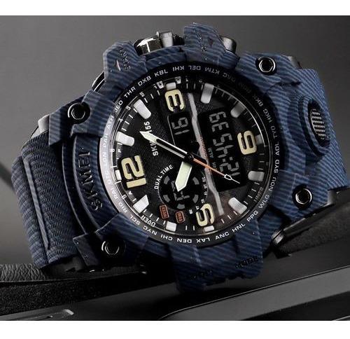 Relógio Skmei Original Modelo 1155 Azul Camufla Prova D