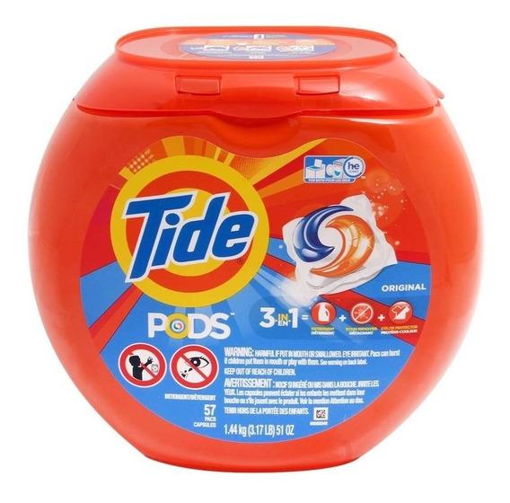 Cápsulas De Detergente Tide Pods 57 Pzas