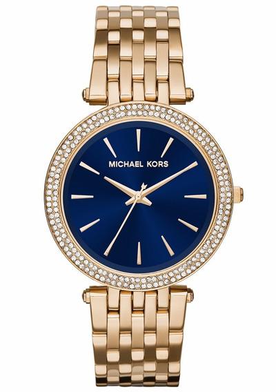 Relógio Michael Kors Feminino Darci Slim Mk3406/4ai Dourado