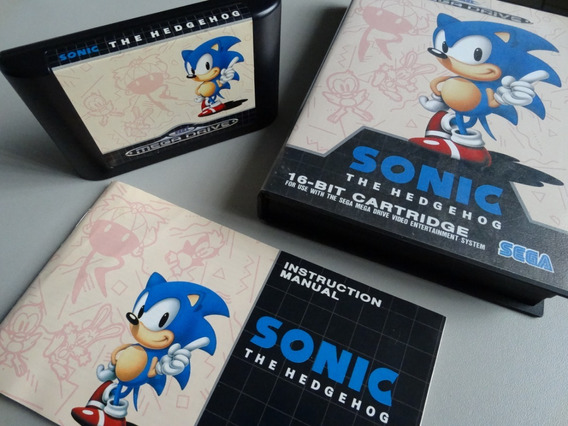 Jogo Sonic 1 Mega Drive Sega Completo E Super Conservado F.g