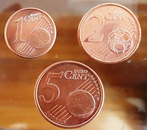 Portugal Set 3 Monedas Del Año 2011 1, 2 Y 5 Euro Cent Unc