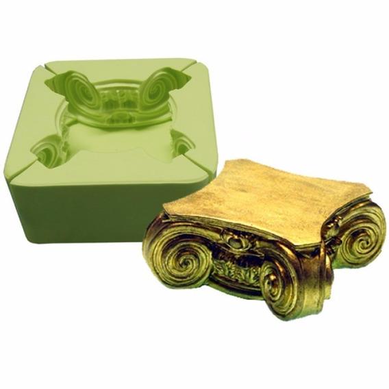 Forma Silicone Pedestal Artesanato Biscuit Sabonete Gesso