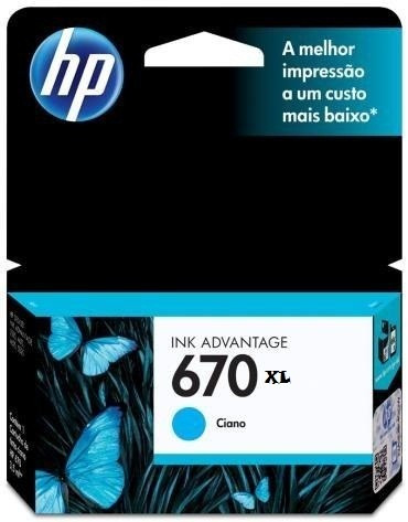 Cartucho Hp 670xl Cian