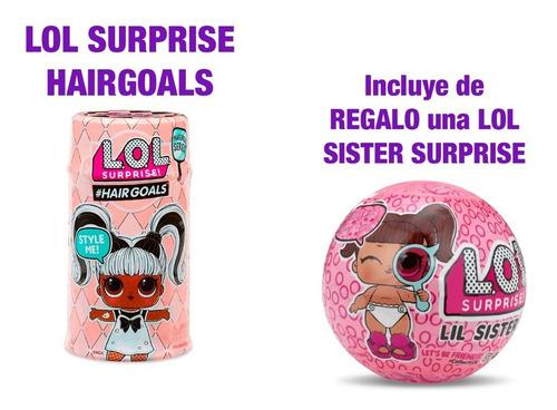 Imagen 1 de 7 de L.o.l. Surprise Hair Goals Con Lil Sister De Regalo