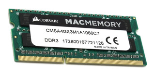 Memoria RAM 4GB 1x4GB Corsair CMSA4GX3M1A1066C7