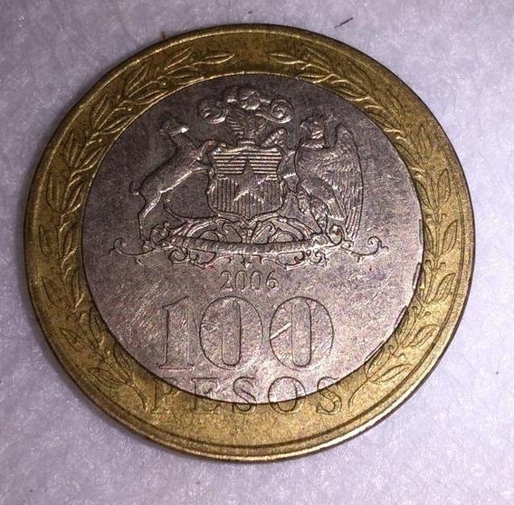 Moneda De Chile 100 Pesos De 2006
