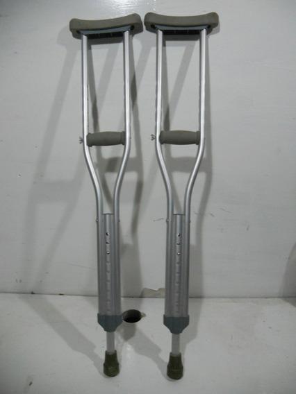 Par De Muletas De Aluminio Movilidad Discapasidad #a577