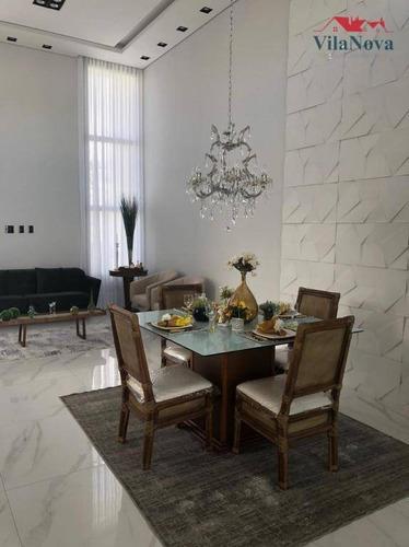 Casa Com 3 Dormitórios À Venda, 180 M² Por R$ 1.530.000,00 - Jardim Residencial Dona Lucilla - Indaiatuba/sp - Ca1888