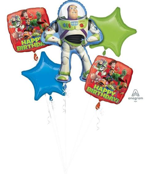 Bouquet De Globos Metálicos Toy Story Originales