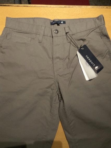 Pantalón Gabardina Newport Gris Medio, Como Nuevo!