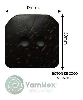 Botón De Coco | 6654-0032 - 10pzas
