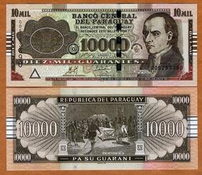 Paraguai 10000 Guaranies 2011 P. New Fe Cédula - Tchequito