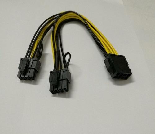 3 Cable Pcie 8 Pin A 6+2 Pin Dual Doble Tarjeta De Video