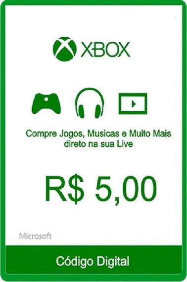 Cartão Presente Xbox R$ 5,00