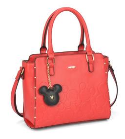 Bolsa De Mão Feminina Mickey Mouse Bmk 78420