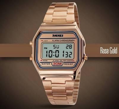 Relógio Skmei 1123 Rose Gold Pronta Entrega