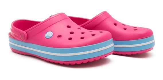 Zueco Crocs Originales Crocband Mujer Pink