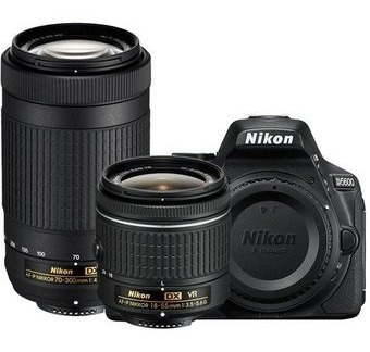 Camara Nikon D5600 Kit 18-55mm + 70-300mm Af-p