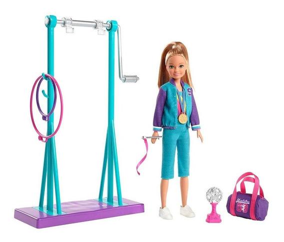 Playset E Boneca Barbie - Stacie - Ginasta - Mattel