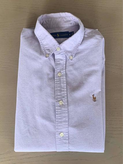 Camisa Polo Ralph Lauren 100% Original Lila Liso Talla M