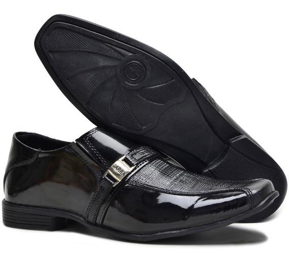Sapato Social Masculino Em Couro Liso Clássico Moderno Macio