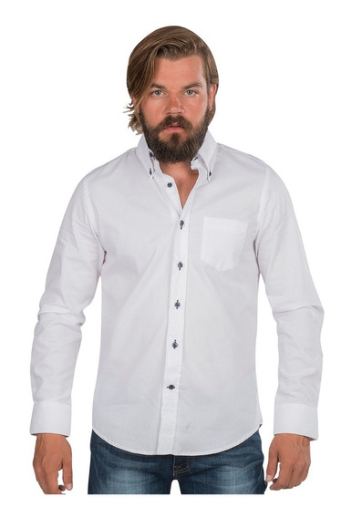 Camisa Hombre Casual Vestir Slim Fit Moda Formal Algodon
