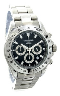 Reloj Tressa Hombre Cronometro Y Calendario Sumergible 100m