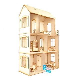 Casa De Muñecas Chica Deseo Del Corazón Muebles Incluidos