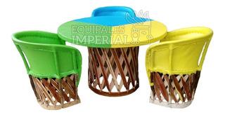 Equipales. Comedor 3 Colores Para Hogar Y Restaurante.