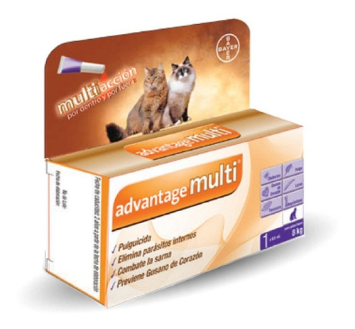 Advantage Multi Gato 4-8 Kg Pipeta Antipulgas Sarna Bayer