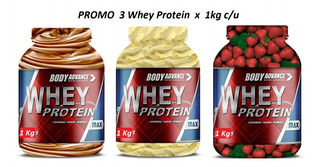 3 Whey Protein 1 Kg C/u. Proteína Pura. Body Advance