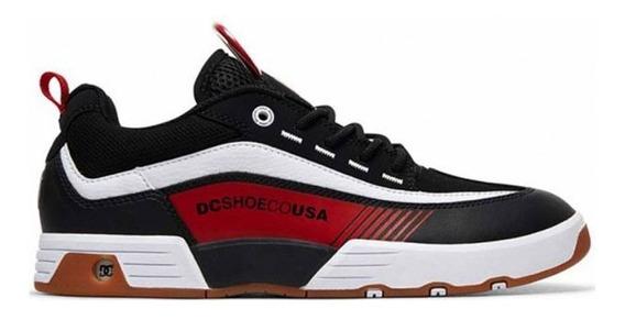 Tenis Dc Shoes Legacy 98 Slim Preto Vermelho