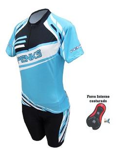 Conjunto Ciclismo Princesa Camisa+bermuda