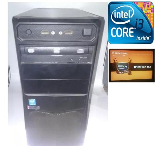 Computador Desktop + Monitor, Intel Core I3-4170 4gb 1tera.b