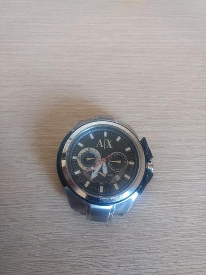 Relógio Armani Exchange Masculino Ax1042 Em Aço Cronógrafo