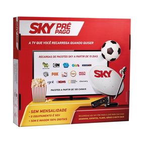 Receptor Sky Pré-pago Flex Hd + Cadastro E Habilitação +hdmi