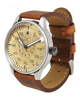 Reloj De Cuarzo Mil-tec Luftwaffe Me 109 Pilot Vintage Con C