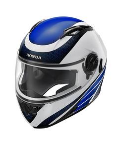 Capacete Honda Hf2 2018 Branco/azul Original Honda