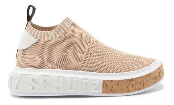 Sneaker It Schutz Bold Knit Nude