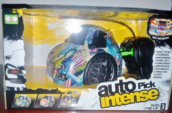 Carro A Control Remoto Recargable Luces Soni Super Monster
