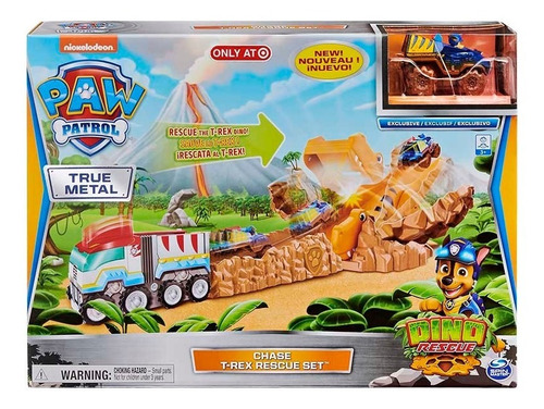 Paw Patrol Playset T-rex C/vehiculo Chase Int 17701 Orig