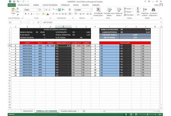 Planilha Iq Option | Atualizada - 2.0 Método Cam