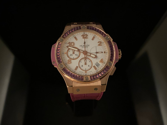 Hublot Big Bang De Oro Rosa 18 Kt,41 Mm Bisel De Diamantes