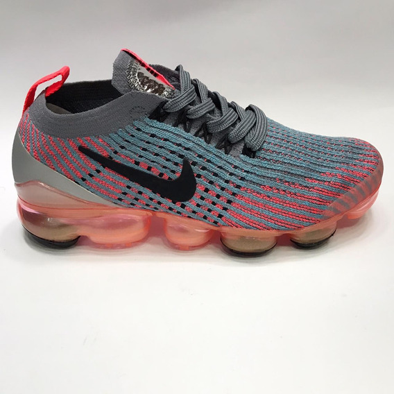 Nike Vapormax Flyknit 3 Feminino - Cinza