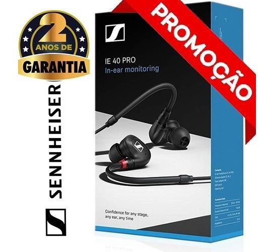 Headphone Fone De Ouvido Sennheiser Ie40 Pro In-ear Monitor